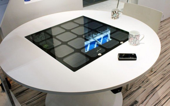 panasonic tafel smartphones zonne energie Draadloos smartphones opladen met zonne energie