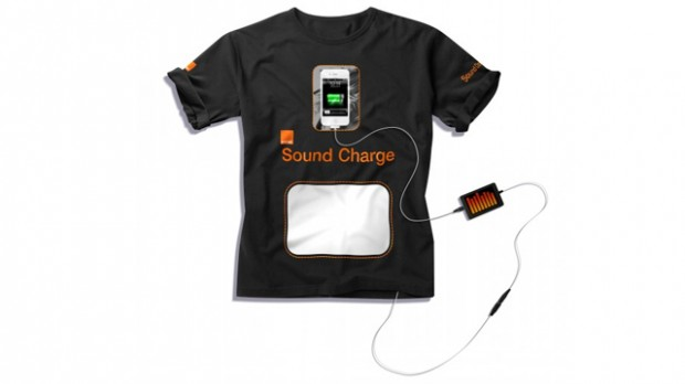 tshirt geluidsgolven 620x348 T shirt laadt smartphones op met geluidgolven