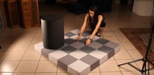 Optische illusie houdt je voor de gek met schaduw