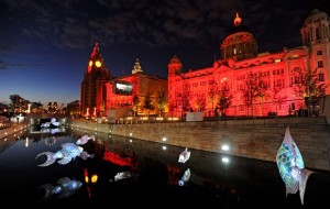 Projection mapping in Liverpool
