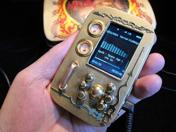 steampunk mp3 speler Steampunk MP3 speler
