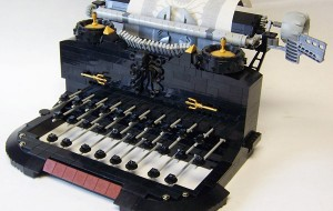 Typemachine van Lego