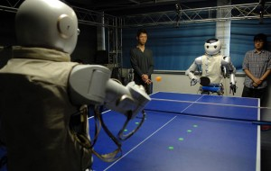 Robots spelen tafeltennis