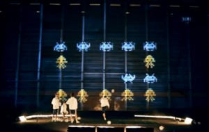 Projection mapping met Chelsea-voetballers