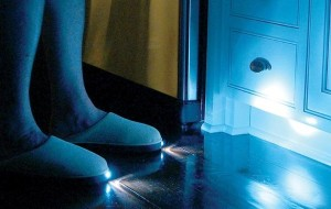 Slippers met ingebouwde zaklamp