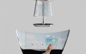 Smartphone en lamp in n