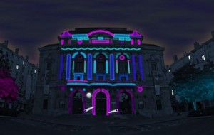 Projection mapping: Urban Flipper