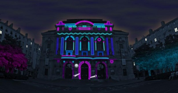 urban flipper Projection mapping: Urban Flipper