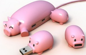 Pig Buddies usb-sticks en -hub