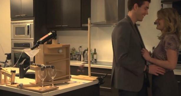 Daten met een rube goldberg machine - Mand een machine huis ter wereld ...