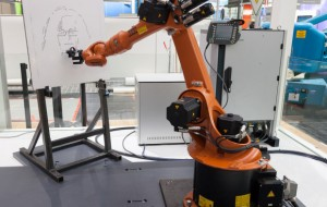 Industrile robot maakt portretten