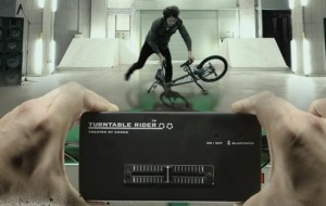 BMX met draaitafels en crossfader