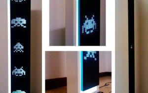 Space Invaders LED lamp