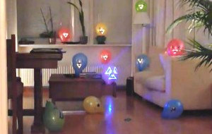 Ballonnen schieten met lasers