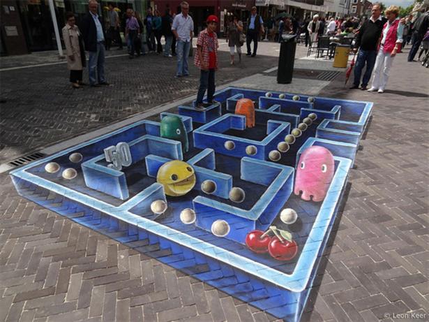 3d straatkunstwerk ter wereld maar desalniettemin erg knap meer