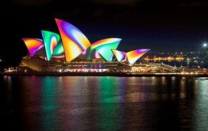 Projection mapping op Sydney Opera House