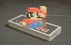 Timelapse: Super Mario kunst in 3D