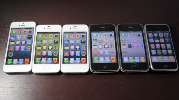 iphone 5 iphones De iPhone 5 vs. alle oudere iPhones