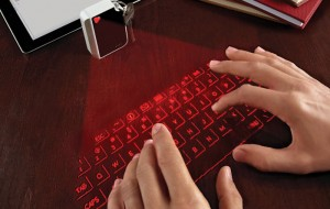 Virtueel laser-keyboard past aan sleutelhanger
