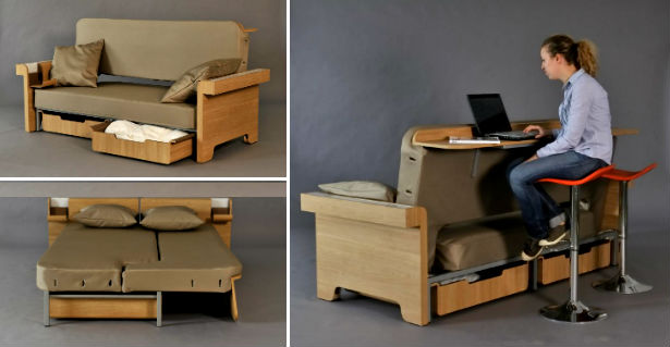 bed bank bureau combo Bed, bank en bureau in n