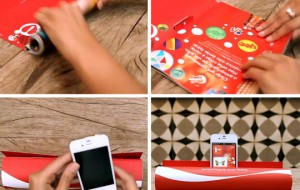 Coca Cola advertentie wordt smartphone-speaker