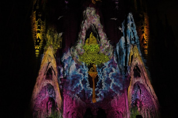 projection mapping sagrada familia2 Projection mapping op de Sagrada Familia