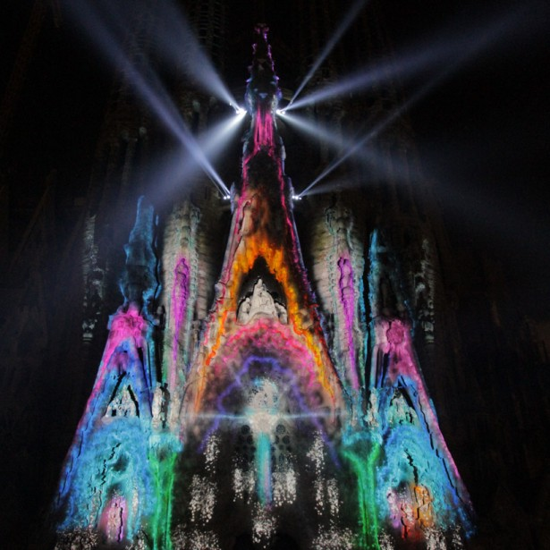 projection mapping sagrada familia3 Projection mapping op de Sagrada Familia