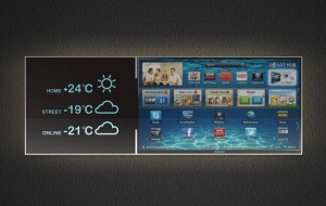 Samsung Smart TV concept met twee schermen