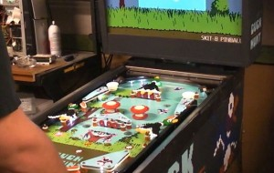 Flipperkast in de stijl van Duck Hunt