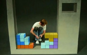 Stop-motion Tetris met krijt
