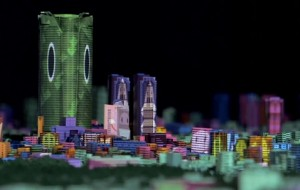 Projection mapping wekt model van Tokio tot leven