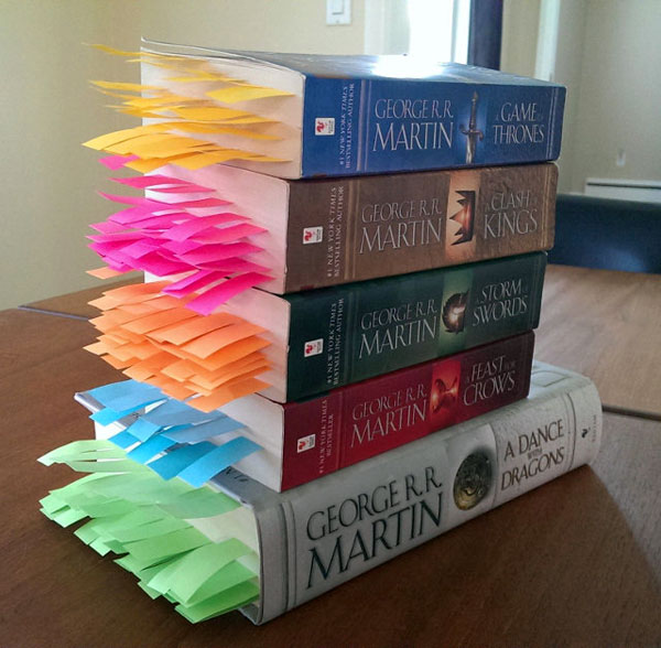 Alle doden uit George R.R. Martin's Game of Thrones in één afbeelding