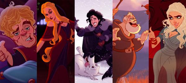 Game of Thrones in de stijl van Disney