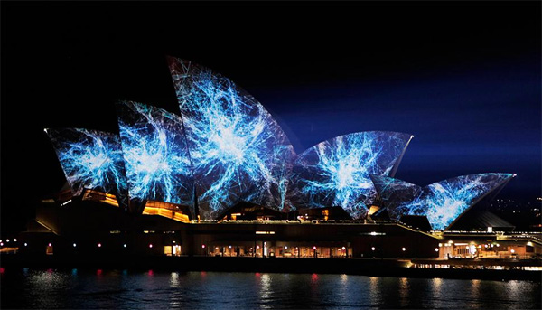 sydney opera house projection mapping Het Sydney Opera House als lichtshow