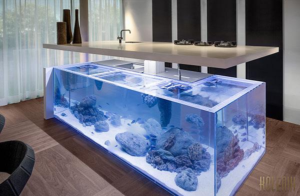 Ocean de magnifieke combinatie van een keuken en een aquarium  Freshgadgetsnl # Wasbak Kuisen_130117