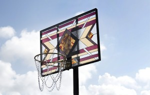 basketbal-glas-in-lood