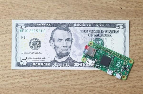 De nieuwste Raspberry Pi kost slechts 5 dollar