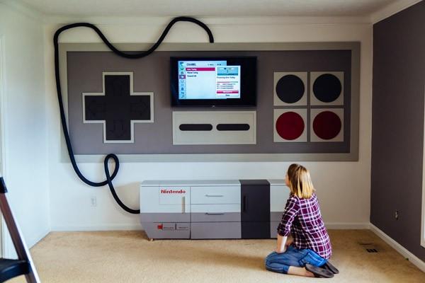 De gamekamer die iedere Nintendo-fan zou willen hebben