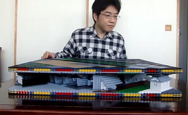 Een opvouwbaar pop up kasteel gemaakt van lego - Mand een machine huis ter wereld ...