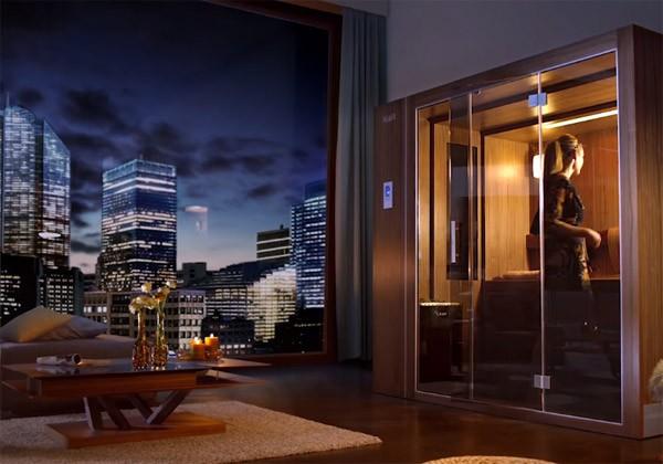 klafs s1 een uitschuifbare sauna die in ieder huis past. Black Bedroom Furniture Sets. Home Design Ideas