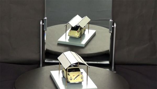 Optische illusie: een garage met een gespleten persoonlijkheid