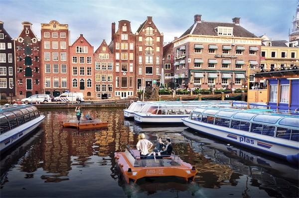 Volgend jaar heeft Amsterdam autonome bootjes op de grachten