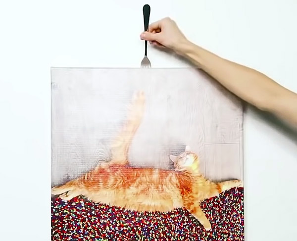 schilderij-vork-ophangen
