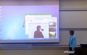 leraar-projectiescherm