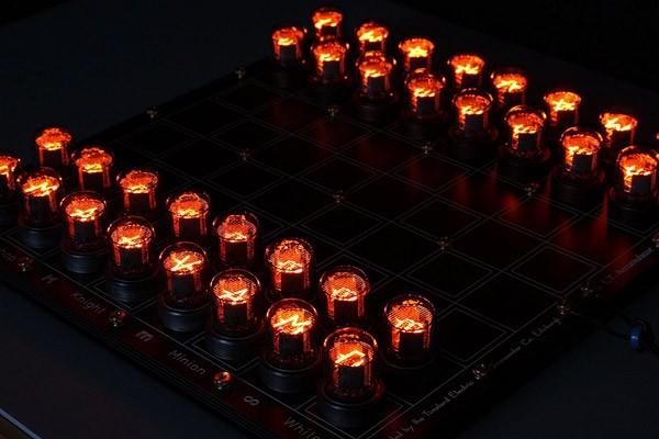 nixie-schaakbord