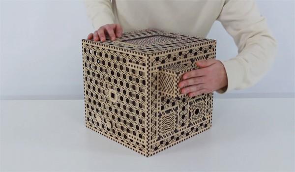 Wonderlijke houten puzzeldoos bewaart je geheimen