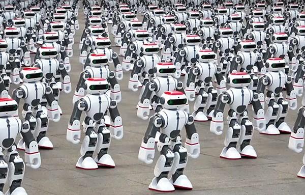 Een nieuw wereldrecord: meer dan duizend dansende robots