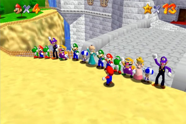 Er is nu een online multiplayer versie van Super Mario 64