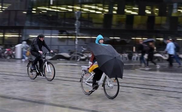 Under-Cover: een paraplu voor op de fiets