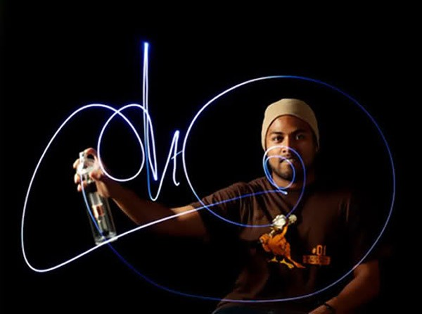 Halo LED: graffiti met licht